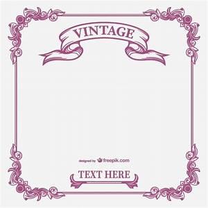 Vintage calligraphic frame vector Vector | Free Download