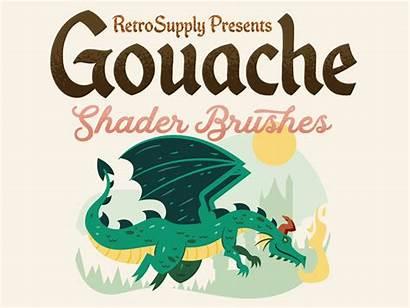 Retro Gouache Webinar Supply Dribbble Explaining Retrosupply