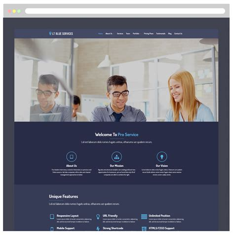 lt blue service  responsive business service wordpress theme ltheme