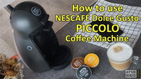tutorial    nescafe dolce gusto piccolo coffee