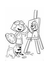 Coloring Painting Pages Supercoloring Clifford sketch template