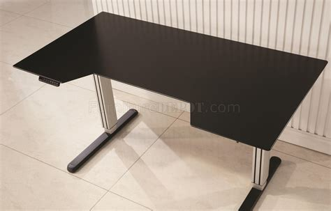 adjustable height office desk 801315 office desk in black silver tone w adjustable height