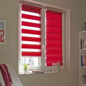 Sécurité Fenêtre Bébé Sans Percer : store enrouleur jour nuit inspire rouge rouge n 3 41 x ~ Premium-room.com Idées de Décoration