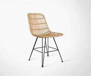 Chaise Pied Metal Noir : chaise design rotin naturel par hk living coup de coeur ~ Teatrodelosmanantiales.com Idées de Décoration