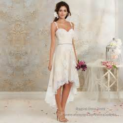 bridesmaid dresses high low aliexpress buy bohemian high low wedding dress 2016 summer ivory white lace