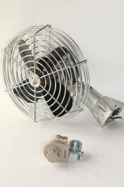 one stop fan shop vintage 12 volt hupp dashboard fan 7 quot heater circulating