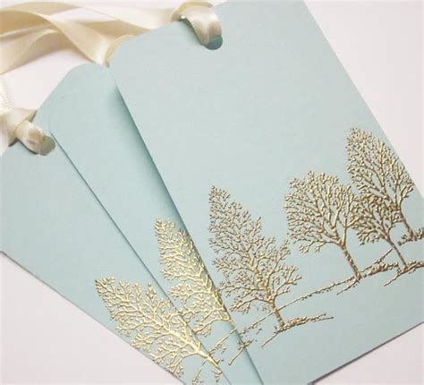 Tree Wedding Wish Tree Tags T Tags Favor Tags Gold