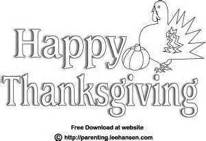 printable happy thanksgiving coloring poster