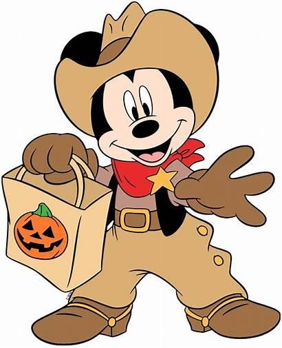 Halloween Mouse Mickey Cowboy Clip Disney Trick