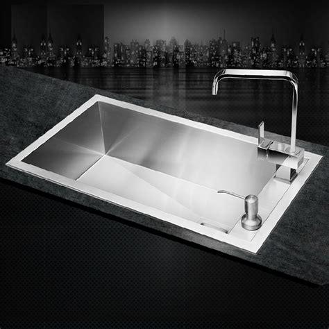 cheap stainless steel sinks kitchen aliexpress buy sus304 stainless steel kitchen sink 8180