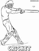 Cricket Coloring Pages Game sketch template