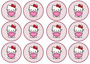 free hello kitty valentines day cupcake toppers from With hello kitty cupcake topper template