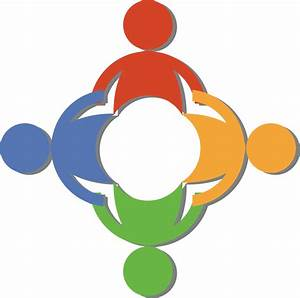 Free Teamwork Clip Art Of A Circle Of Diverse People