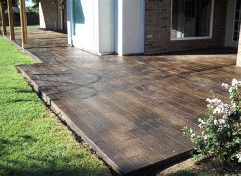 staining concrete patio stained concrete patio the lasting one pickndecor