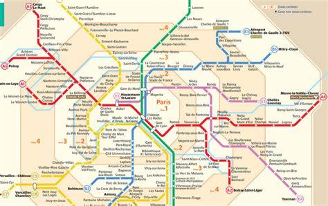 La Carte De Metro Rer by Rer A Tarif