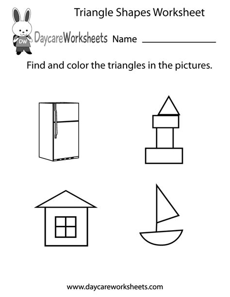 free triangle shapes worksheet for preschool 402 | triangle shapes worksheet printable