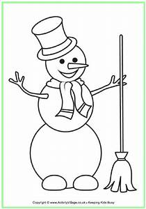 Snowman Colouring Page