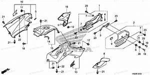 Honda Atv 2009 Oem Parts Diagram For Body    Cover