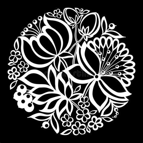 mooie zwart wit zwart witte ge 239 soleerde bloemen en bladeren vector illustratie illustratie