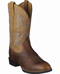 ariat barrel brown stockman cowboy boots round toe With cowboy boot websites