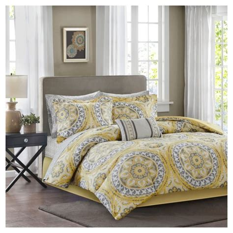 yellow nepal medallion complete multiple piece comforter