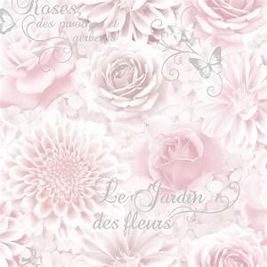 Fine Decor Jardin Sidewall Wallpaper Pink (FD40641 ...