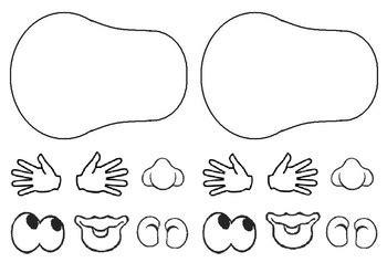 body template potato head mr potato head body parts potato head printables body template