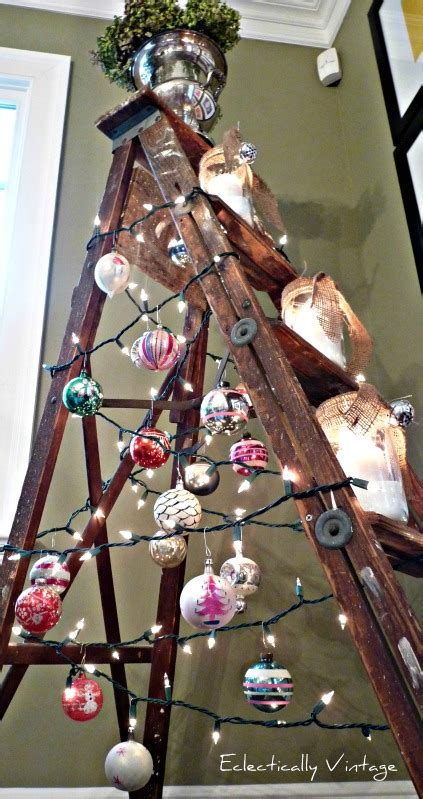wooden ladder christmas treesfunky junk interiors