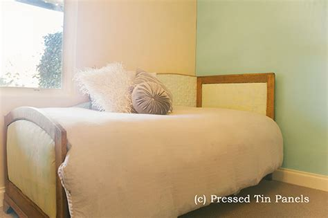 ideas for bathrooms original bed backboard pressed tin panels