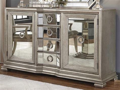 pulaski couture silver rectangular sideboard mirror set