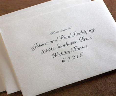 Calligraphy Writing On Wedding Invitations As Well With