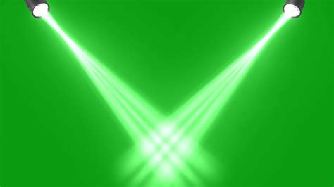 concert stage lights green screen animated background