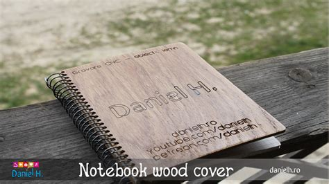 wood cover notebook engraved diy homemade youtube