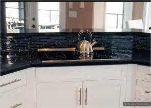backsplash for black and white kitchen backsplash goes black cabinets modern home design and decor