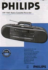 Philips Aw7050 Radio Cassette Instruction Manual