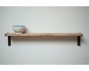Minimal Wall mount Shelf Reclaimed Old Growth Wood an Iron