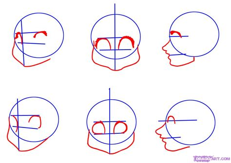 draw cartoon faces step  step faces people