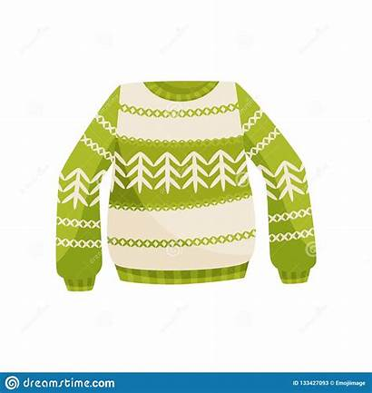 Jumper Sweater Knitted Ornament Norwegian Warm Illustrazione