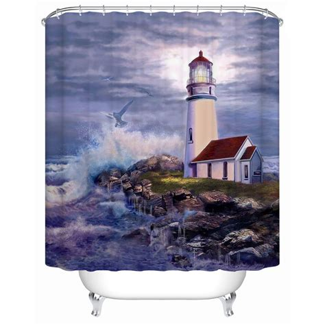 lighthouse shower curtain popular lighthouse curtains buy cheap lighthouse curtains