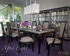 11 Dining Room Set After Eight Black Onyx 11 Formal Dining Room Furniture Set Table Chairs Ebay