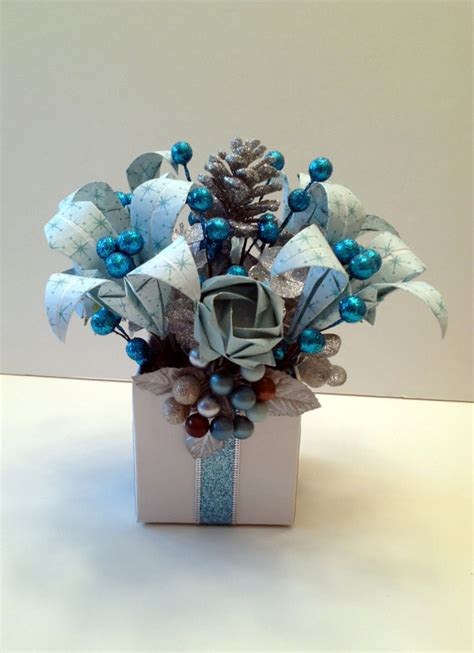 blue and silver flower arrangements winter wonderland blue and silver origami paper christmas