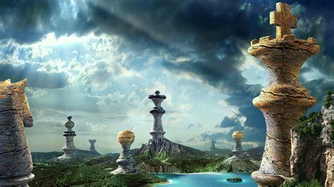 landscape fantasy chess pieces picture nr