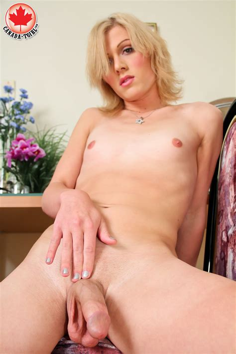 Dirty Blonde Tranny In A Jeans Skirt And Tr Xxx Dessert