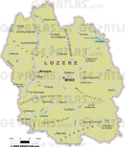 Ville De Carte by Carte De La Loz 232 Re Loz 232 Re Carte Du D 233 Partement 48