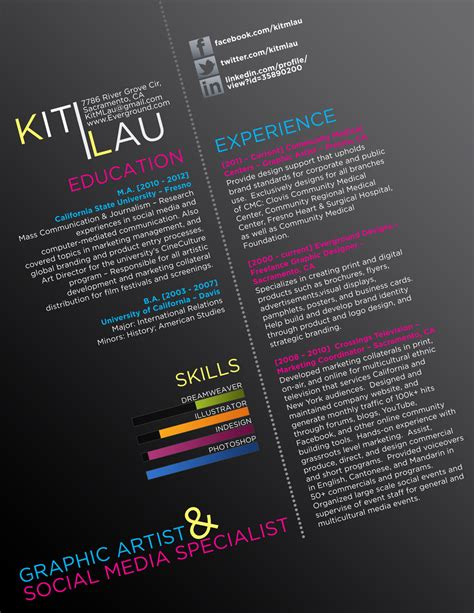 Creative Graphic Artist Resume by Graphic Resume Creative Cv By Ison On Deviantart