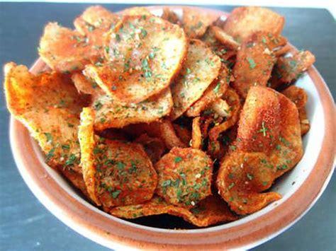 friteuse et cuisine recette de chips de topinambours au parpika ou curry