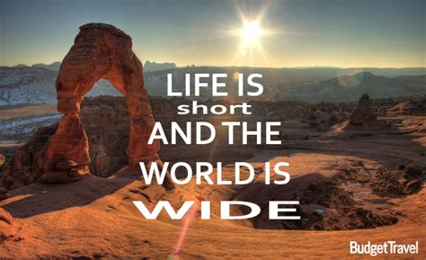 life  short   world  wide travel quote
