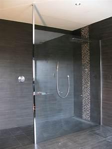 revgercom porte douche verre sur mesure idee With porte de douche coulissante avec carrelage murale adhesive salle de bain