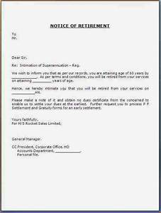 notice of retirement letter to employer motaveracom With retirement letter from employer to employee template