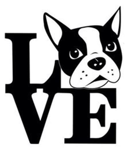 boston terrier silhouette clipart  clip art images